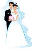 lyckligt bröllop Fotografering för Bildbyråer