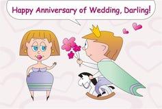lyckligt bröllop för årsdag Arkivbild