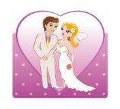 lyckligt bröllop för par Arkivbilder