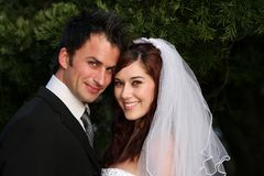 lyckligt bröllop för par Royaltyfria Bilder