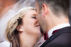 lyckligt bröllopbarn för par Arkivbild