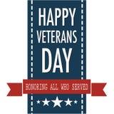 Lyckligt citationstecken för veterandag för veterinärdagen i USA Royaltyfria Bilder