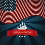 Lyckligt Columbus Day kort eps 10 Arkivfoto