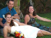 lyckligt deltagarebröllop Royaltyfri Bild