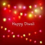 Lyckligt Diwali hälsningkort Arkivfoto
