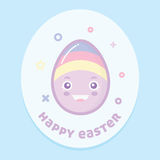 lyckligt easter ägg Fotografering för Bildbyråer