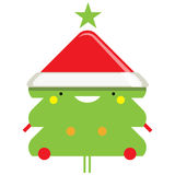 Lyckligt enkelt le Santa Claus tecknad filmtecken vektor illustrationer