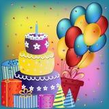 Lyckligt födelsedagbegrepp royaltyfri illustrationer