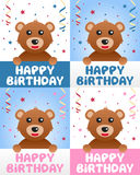Lycklig födelsedagnallebjörn Royaltyfri Bild