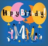 lyckligt födelsedagkort Fotografering för Bildbyråer