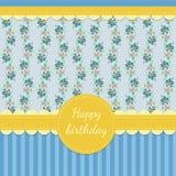 lyckligt födelsedagkort Arkivfoton