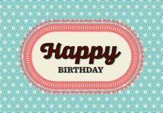 lyckligt födelsedagkort Royaltyfri Fotografi