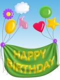 lyckligt födelsedagkort Royaltyfria Bilder