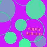 lyckligt födelsedagkort Minimalist design stock illustrationer