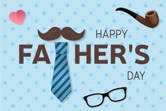 Lyckligt för daghälsning för fader s kort Lycklig dagaffisch för fader s vektor vektor illustrationer