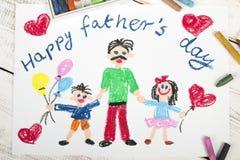 Lyckligt fader dagkort royaltyfria foton