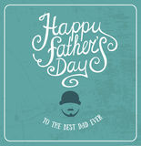 Lyckligt fader kort för daghälsning Royaltyfri Bild