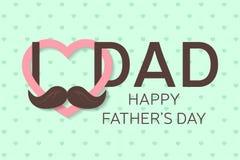 Lyckligt fader kort för daghälsning Lycklig faders affisch för dag farsan älskar jag dig vektor Arkivbild