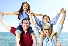 lyckligt familjgyckel Royaltyfri Bild