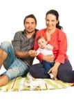 Lyckligt familjhem Arkivbilder