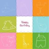 Lyckligt födelsedaghälsningskort Arkivfoto