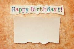 lyckligt födelsedagkort Arkivfoto