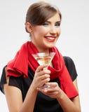 Lyckligt fira kvinnaståenden Royaltyfria Foton