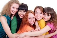 lyckligt flera unga kvinnor Royaltyfri Fotografi
