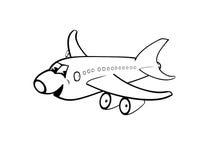 lyckligt flygplan Stock Illustrationer
