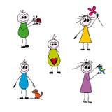 lyckligt folk Royaltyfri Illustrationer