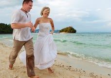 lyckligt folk för bröllopsresa royaltyfri bild