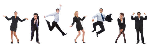 lyckligt folk för affär Arkivfoton
