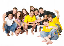 lyckligt folkbarn för grupp arkivfoto