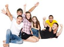lyckligt folkbarn för grupp fotografering för bildbyråer