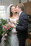 lyckligt gift Fotografering för Bildbyråer