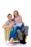 lyckligt gift för par Arkivfoton