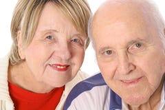 lyckligt gifta pensionärer Arkivbild