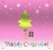 lyckligt glatt nytt år för jul Arkivbild