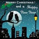 lyckligt glatt nytt år för jul Arkivfoto