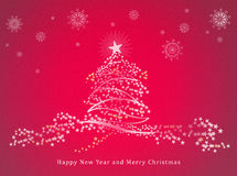 lyckligt glatt nytt år för jul Arkivbilder