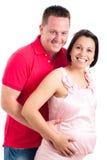 lyckligt gravid för par Arkivfoton