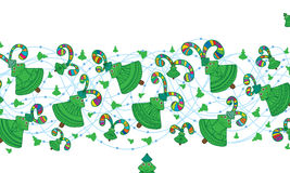 Lyckligt gulligt klipskt färgrikt för Xmas-träd Arkivfoto