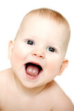 Lyckligt gulligt skratta behandla som ett barn Positivt le barn le för unge Royaltyfri Bild
