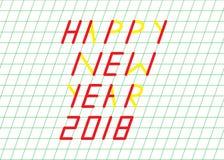 Lyckligt hälsningskort för nytt år arkivfoto