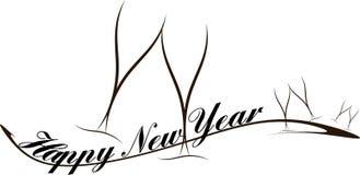 Lyckligt hälsningskort för nytt år Fotografering för Bildbyråer