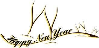 Lyckligt hälsningskort för nytt år Royaltyfria Foton