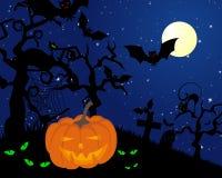 Lyckligt halloween kort Arkivfoto