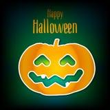 Lyckligt Halloween kort med pumpa vektor illustrationer
