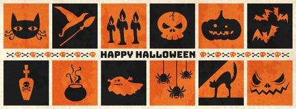 Lyckligt halloween rengöringsdukbaner Arkivfoto