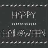 Lyckligt halloween skelett- hälsningkort Arkivbilder